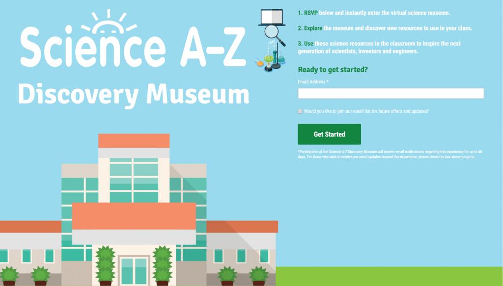 來到博物館入口,只要輸入email、再按下【Get Started】按鈕就能進入囉!